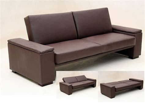 black and brown sofa brown or black faux leather sofa bed homegenies