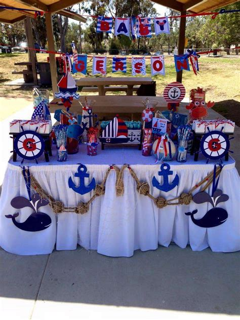nautical baby shower theme decorations nautical baby shower ideas photo 2 of 8 catch my