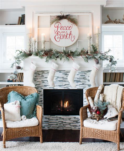 christmas mantel decor the lilypad cottage