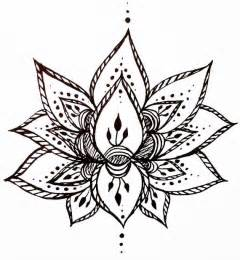 Lotus Flower Doodle Lotus Flower Temporary Henna Style