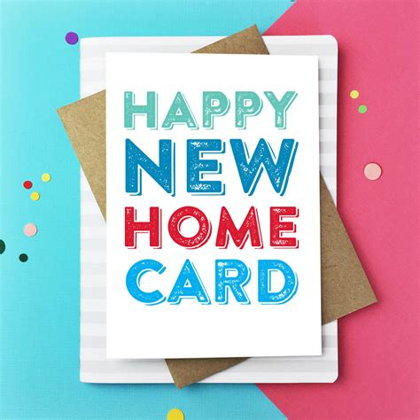 happy  home greeting card    punctuate