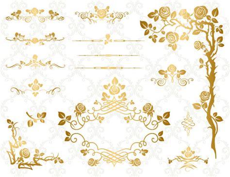 verzierung hochzeitskarte gold digital flower frame clipart flourish swirl frame border