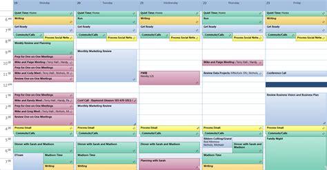 Create Your Ideal Week Michael Nichols Leadership Made Simple Ideal Week Template Excel