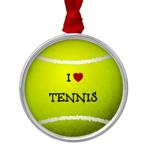 i love tennis tennis ball christmas tree ornaments zazzle