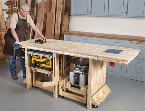wood power tool friendly bench