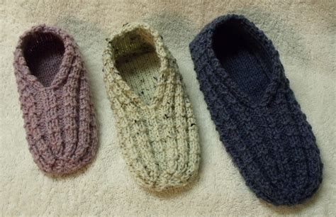 easy knit slipper pattern kweenbee and me how to knit a pair of slippers
