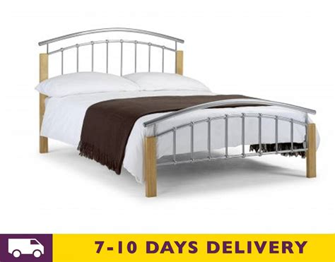 Metal And Wood Bed julian bowen aztec 5ft king size metal wood bed