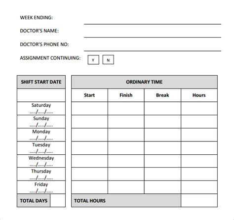 Formsfroms Daily Time Card Template by 29 Free Timesheet Templates Free Sle Exle Format