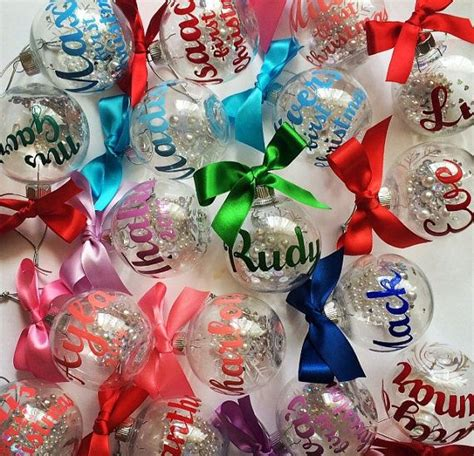 name ornaments homemade 17 best ideas about personalised decorations on personalised