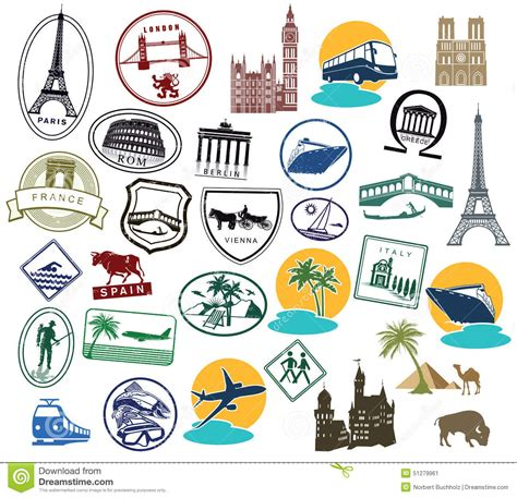 Koffer Sticker Berlin by Series Of European Sts Or Stickers Stock Vector