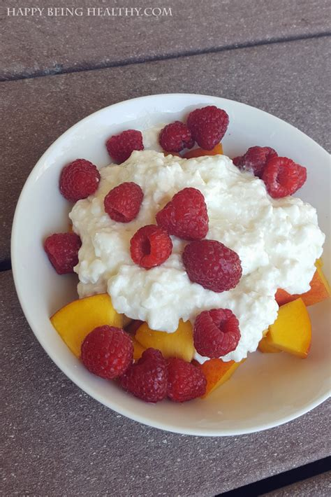 healthy snacks with cottage cheese running happy being healthy