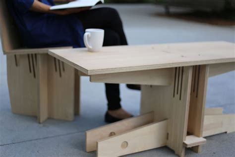 modern knock plywood furniture made with no screws