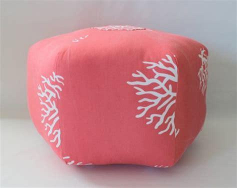 pouf ottoman floor pillow coral aftcra