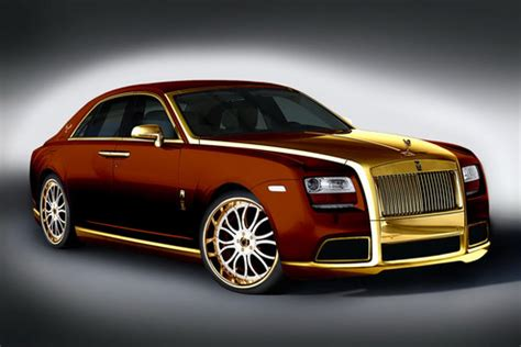 golden rolls royce golden rolls royce ghost by fenice milano