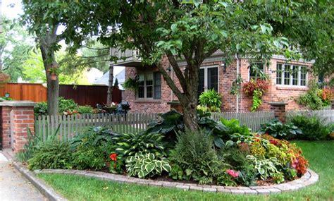 shade garden front yard landscaping ideas pinterest