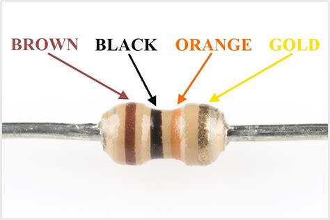 resistor value gold resistor value brown black green gold 28 images resistor free knowledge base the duck