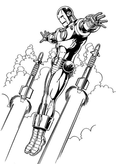 free coloring pages of iron man para pintar