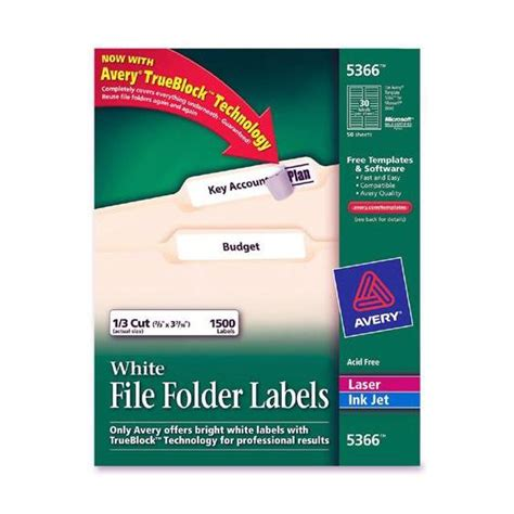 Avery File Folder Label Templates by 5366 Avery Labels Dimensions Crafts