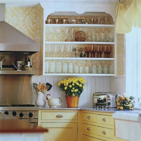 wallpaper cabinets pinterest yellow kitchens white wallpaper and kitchen cabinetry on