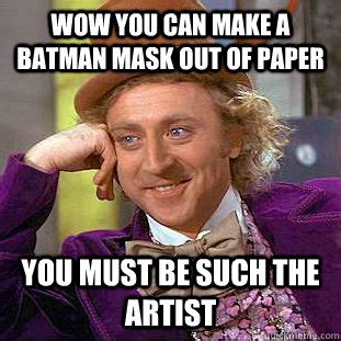 How Do You Make A Mask Out Of Paper - wow you can make a batman mask out of paper you must be