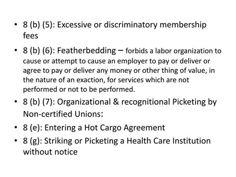National Labor Relations Act Section 8 by Ppt The National Labor Relations Act Nlra The