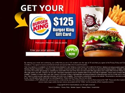 Burger King Gift Card Free - get a free burger king gift card get a free stuff online free stuff free coupon
