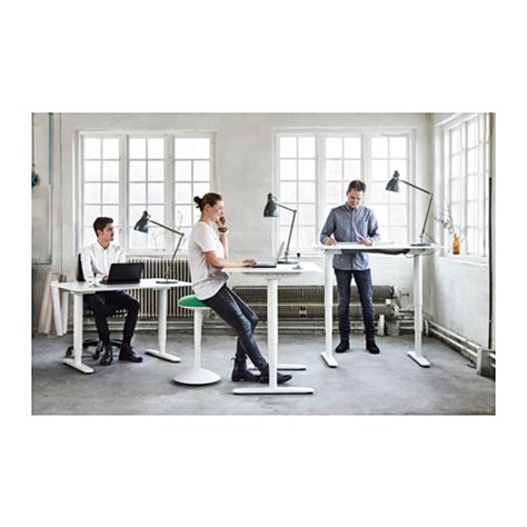 Sit Stand Office Desk Bekant Desk Sit Stand Black Brown White Desks Office Spaces And Spaces