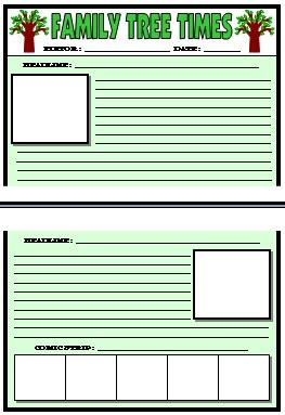 Spring English Teaching Resources For April May And Springtime Family Newspaper Template