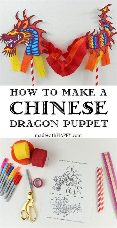new year puppet pattern puppet crafts dragons and craft