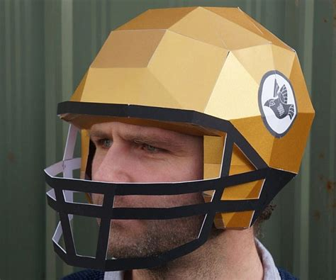 How To Make A Paper Helmet That You Can Wear - diy football paper helmets helmets papercraft and
