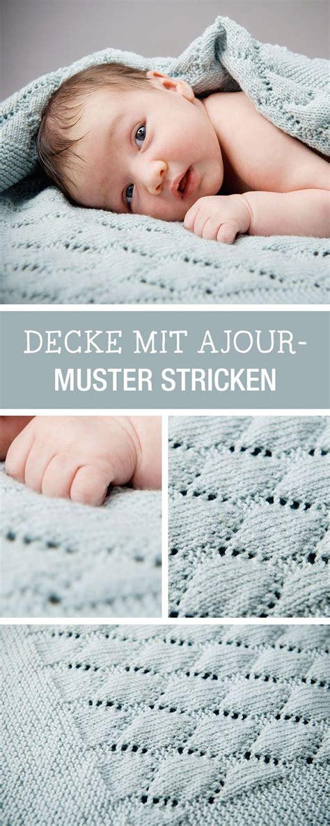 decke muster crochet baby blanket diy anleitung decke mit ajour muster