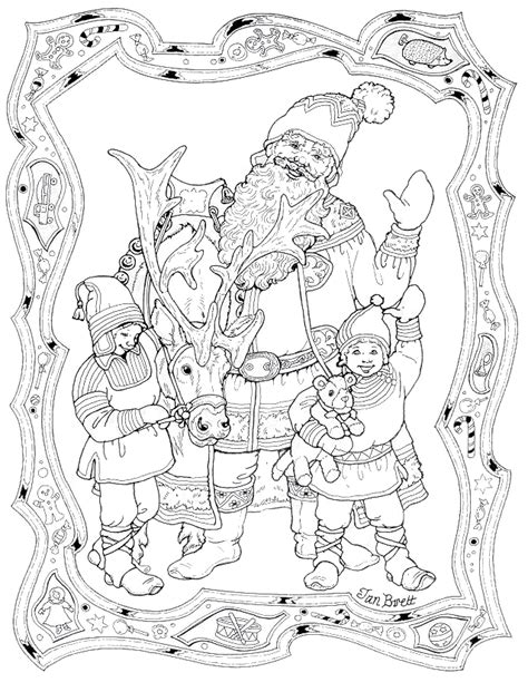 Santa And His Elves Coloring Pages