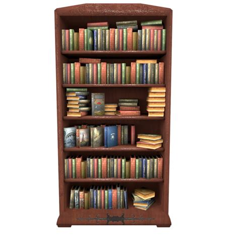 Books And Bookshelves Bookcase Books Obj
