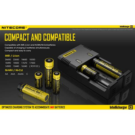 Nitecore Intellicharger Universal Battery Charger 4 Slot For Li Ion And Nimh I4 nitecore intellicharger universal battery charger 2 slot for li ion and nimh i2 black