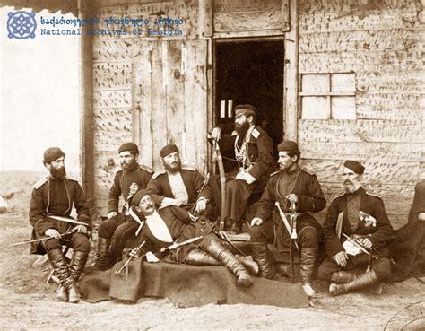 ottoman russian war file yermakov georgian officers at tsikhisdziri russo