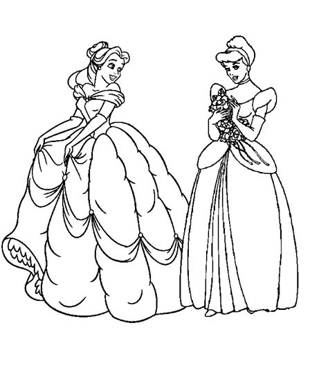all princess coloring pages coloring home