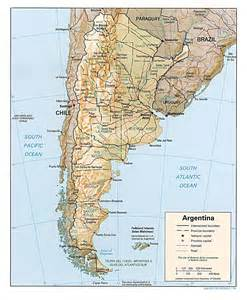 road map of south america detailed road and relief map of argentina argentina