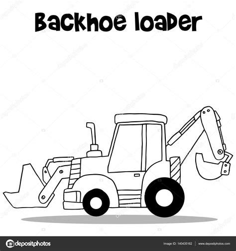 imagenes de una retro escabadora cargador de la retroexcavadora para dibujos animados de la