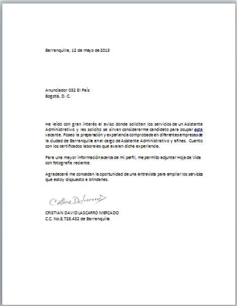 carta de empleo ejemplos solicitud ejemplo de carta para solicitar trabajo newhairstylesformen2014