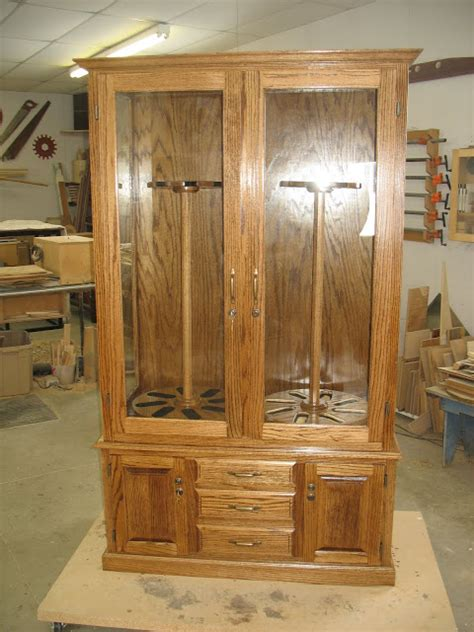 lg custom woodworking gun cabinet