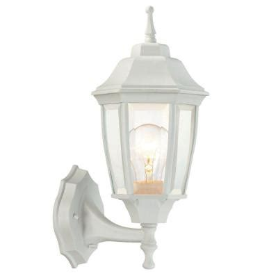 outdoor porch lights home depot hton bay 1 light white outdoor dusk to wall