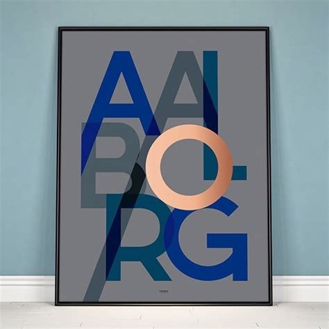 Plakat Aalborg by Plakat Aalborg I Bl 229 K 248 B Kun P 229 Aurea Dk