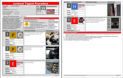 lock out procedures template lockout tagout procedure template pictures
