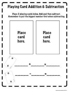 printable window card addition addition lesson plan for 1st grade addition lesson plans
