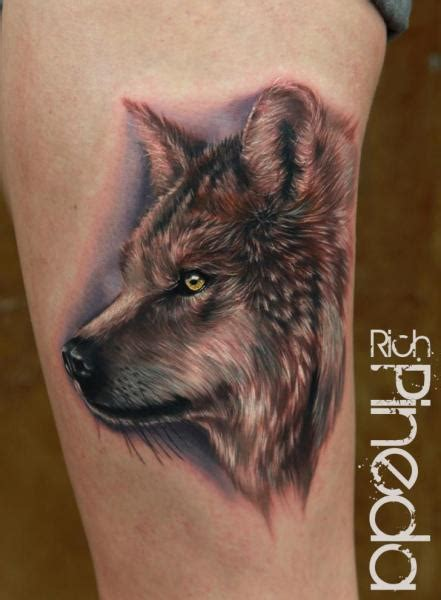 realistic wolf tattoo arm realistic wolf by rich pineda