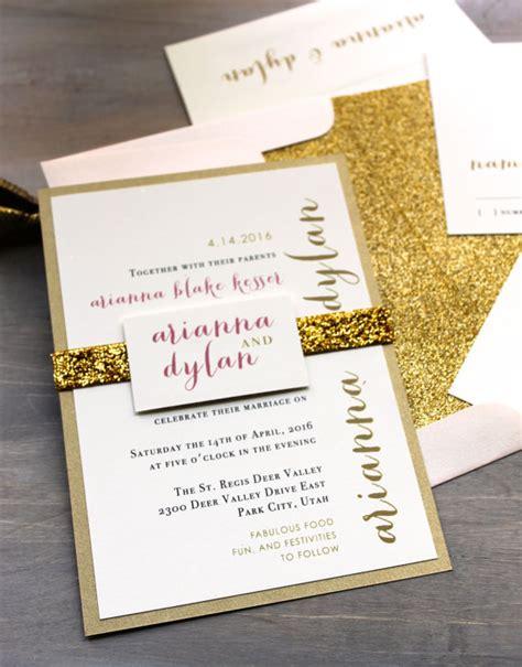 gold glitter wedding invitations uk glitter wedding invitations gold glitter wedding invitation