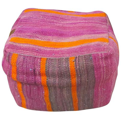 bright colored ottomans vintage kilim pouf in bright colors at 1stdibs