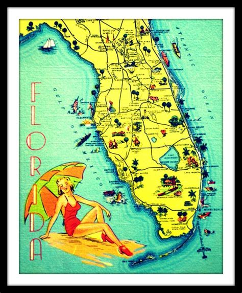 Souvenir Hers Map High Quality 1000 images about florida style on