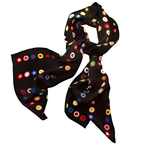 dot pattern in french french dot pattern silk scarf black the getty store