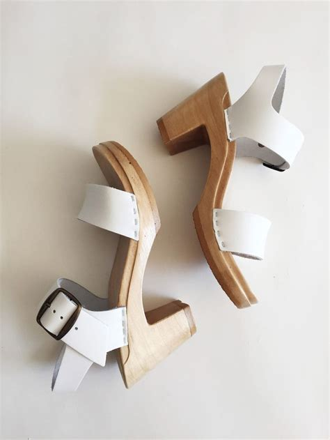 no 6 two clog white a c c e s s o r y clogs clothes and sandals